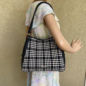 Kate Spade Leila Tweed Medium Triple Compartment Shoulder Bag Tote